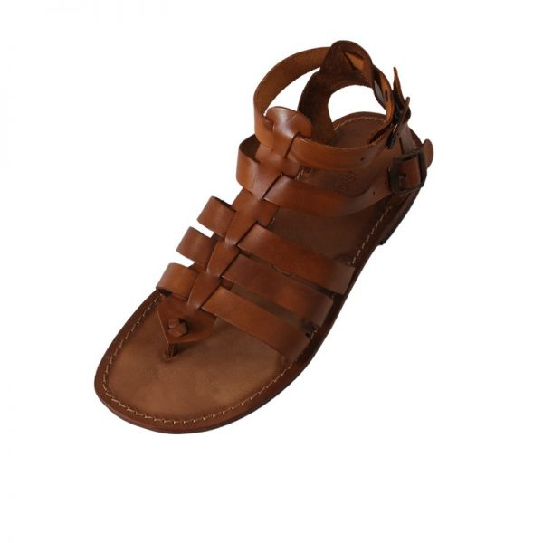 Sandalo gladiatore Romano cognac da uomo