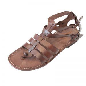 Sandalo gladiatore Romano marrone da uomo