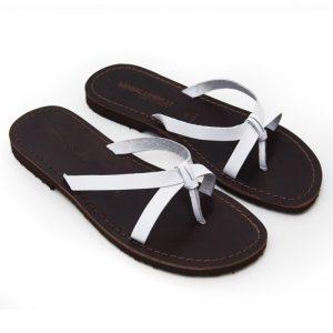 Sandalo infradito Brindisi bianco da donna