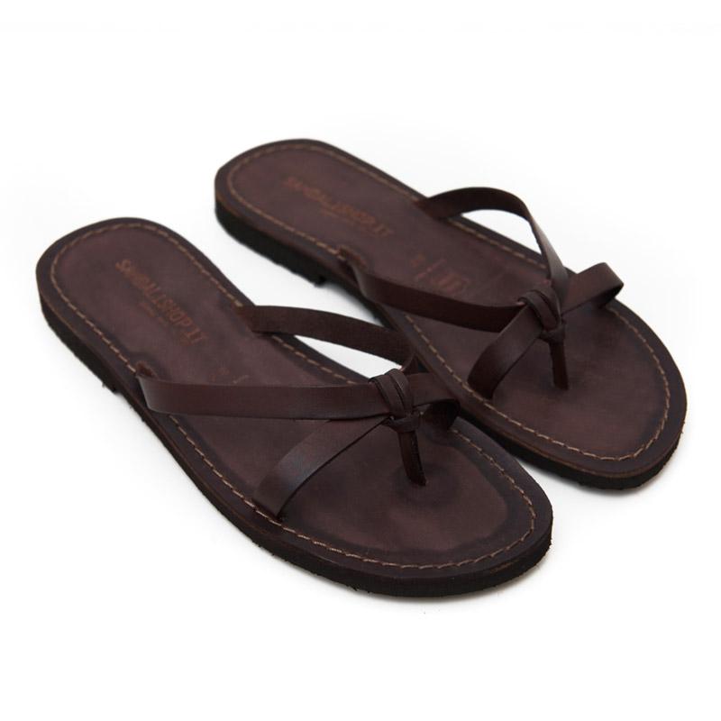 Sandalo infradito Brindisi marrone da donna