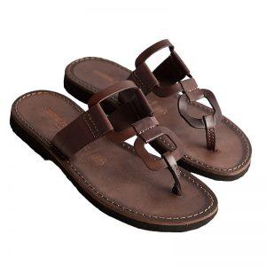 Sandalo infradito Egizio marrone da donna