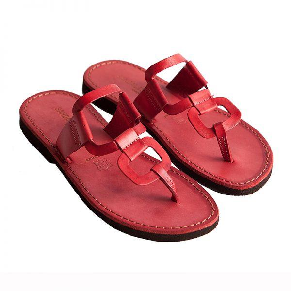 Sandalo infradito Egizio rosso da donna