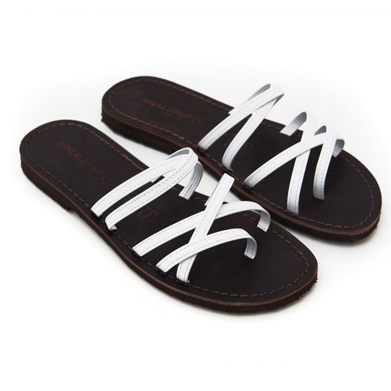 Sandalo infradito Lecce bianco da donna