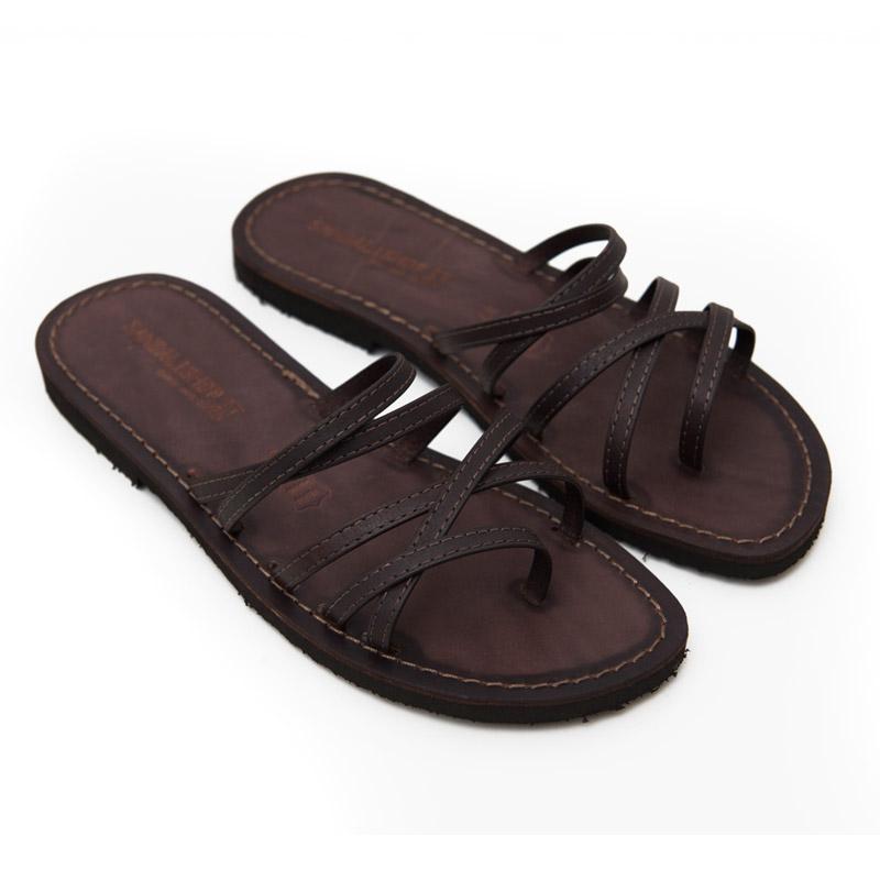 Sandalo infradito Lecce marrone da donna
