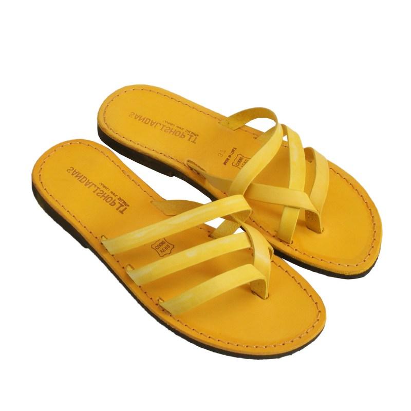Sandalo infradito Maiorca giallo da donna