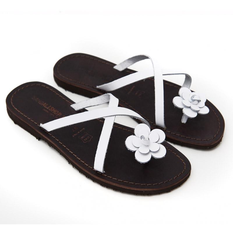 Sandalo infradito Ostuni bianco da donna