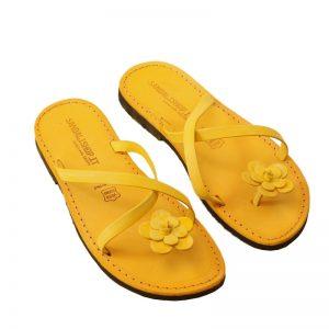 Sandalo infradito Ostuni giallo da donna