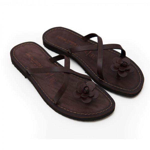 Sandalo infradito Ostuni marrone da donna