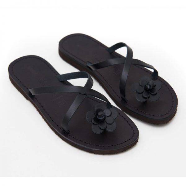 Sandalo infradito Ostuni nero da donna