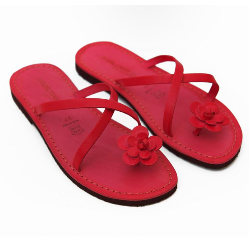 Sandalo infradito Ostuni rosso da donna