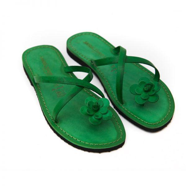 Sandalo infradito Ostuni verde da donna