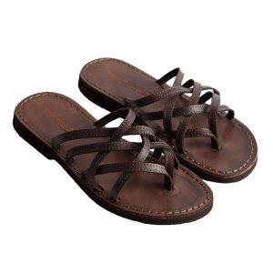 Sandalo infradito Rodi marrone da donna