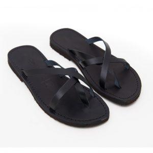 Sandalo infradito Taranto nero da donna