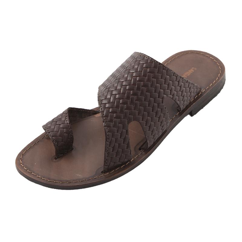 Sandalo infradito Spiga marrone da uomo