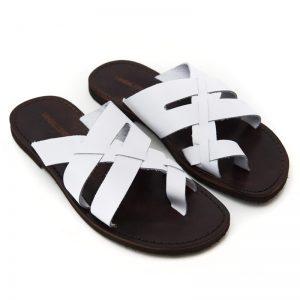 Sandalo infradito Alimini bianco da uomo