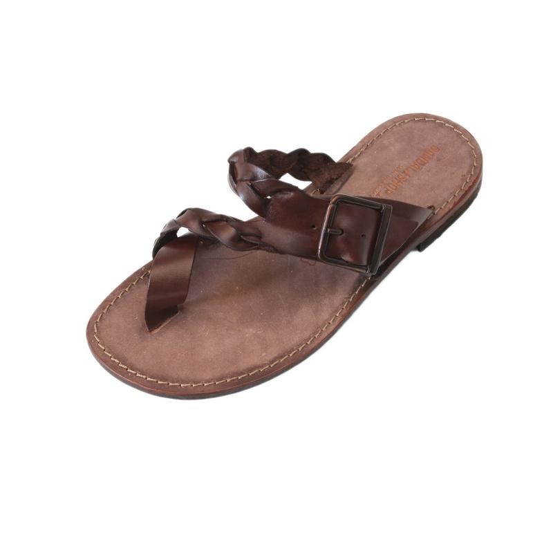 Sandalo infradito Glamour marrone da uomo