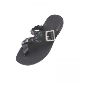 Sandalo infradito Glamour nero da uomo