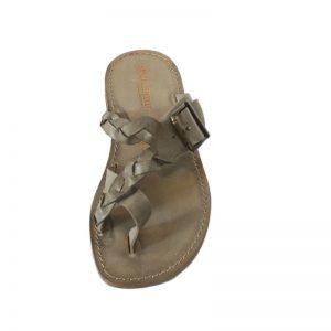 Sandalo artigianale infradito Glamour marrone da uomo - Sandalishop.it a9f939ab012
