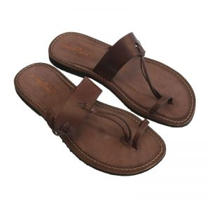 Sandalo infradito Italiano marrone da uomo