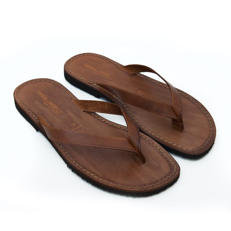 Sandalo infradito Maldive cognac da uomo