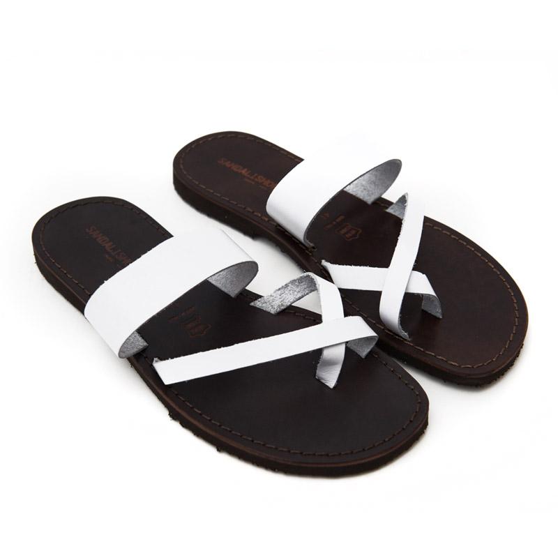 Sandalo infradito Pizzica bianco da uomo