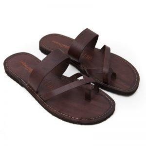 Sandalo infradito Pizzica marrone da uomo