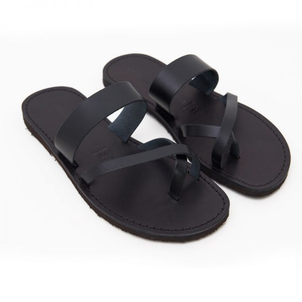 Men's Pizzica Thong sandals in Black
