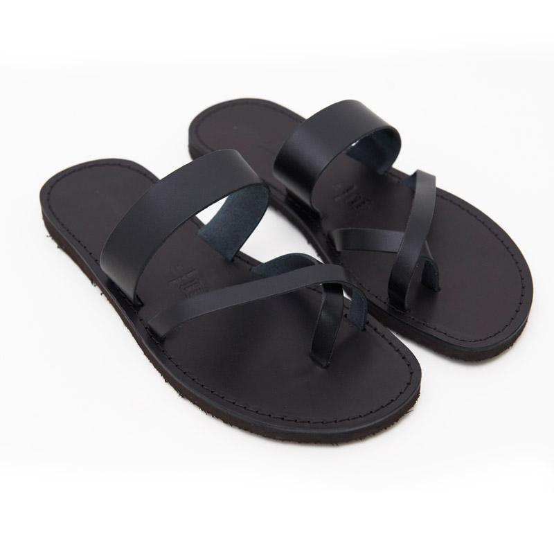 Sandalo infradito Pizzica nero da uomo
