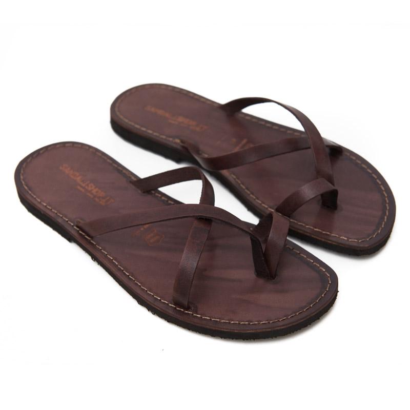 Sandalo infradito Taranta marrone da uomo