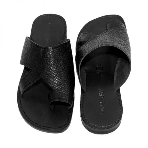 sandali-cuoio-infradito-uomo-unico-nero-2