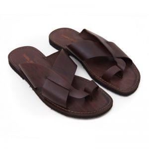 Sandalo infradito Versosud marrone da uomo
