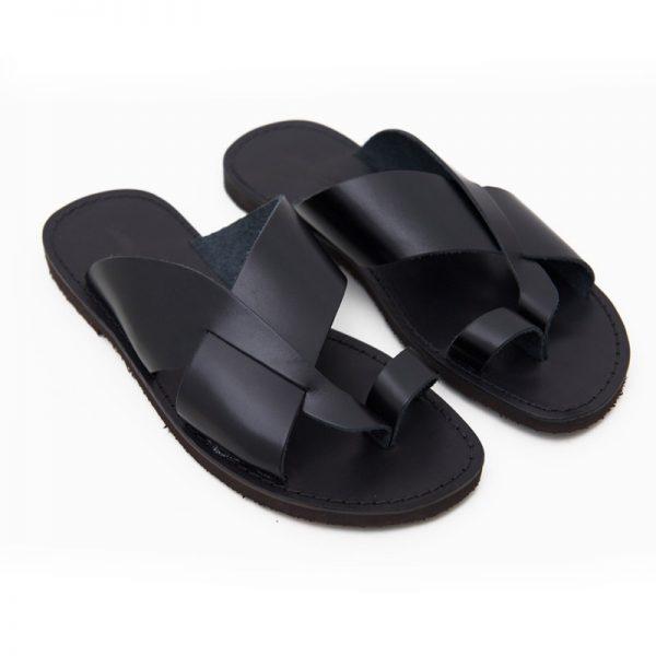 Men's Versosud Thong sandals in Black