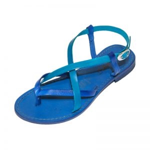 Sandalo schiava Collepasso blu turchese da donna