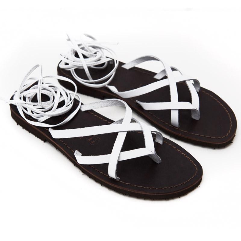 Sandalo schiava Copertino bianco da donna
