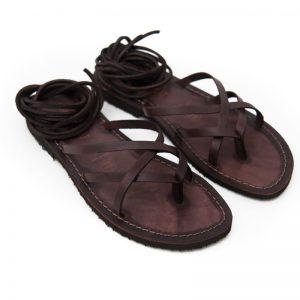 Sandalo schiava Copertino marrone da donna