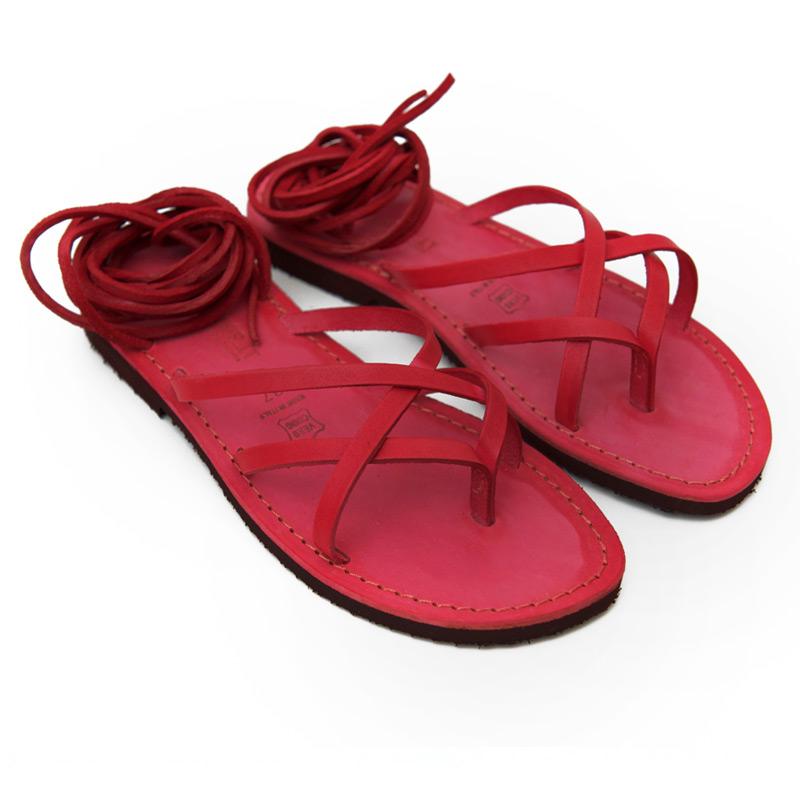 Sandalo schiava Copertino rosso da donna