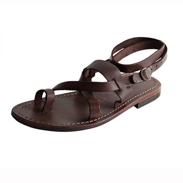 Sandalo schiava Hippie marrone da donna