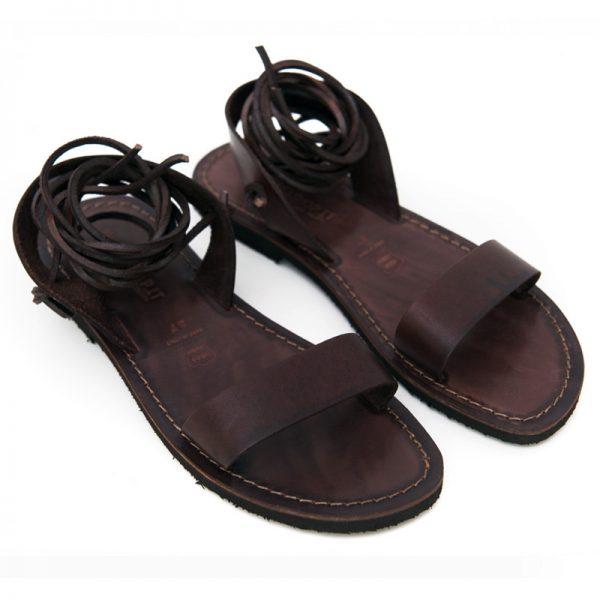 Sandalo schiava Martignano marrone da donna