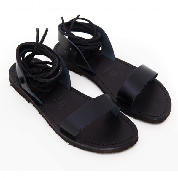 Sandalo schiava Martignano nero da donna