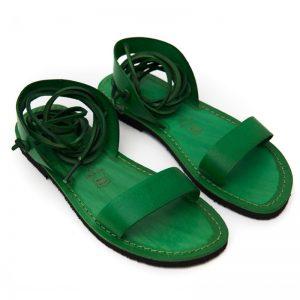 Sandalo schiava Martignano verde da donna