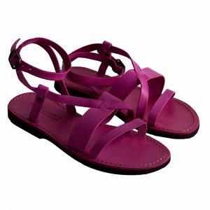 Sandalo schiava Mykonos fuxia da donna