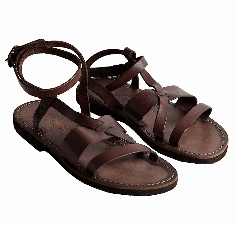Sandalo schiava Mykonos marrone da donna
