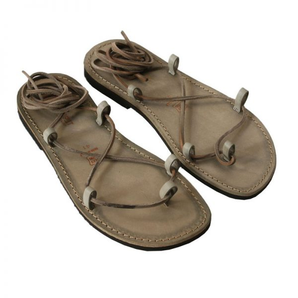 Men's Stringato Lace up sandals in Camouflage Green