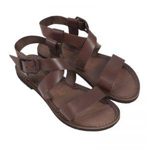 Sandalo chiuso dietro California marrone da donna