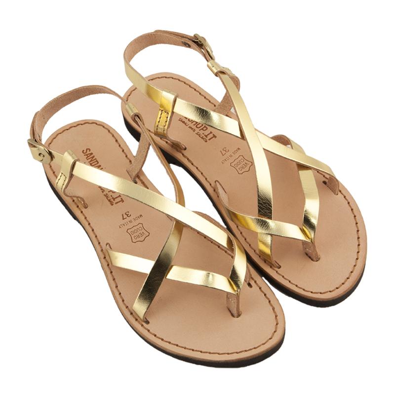 Sandalo chiuso dietro Collier oro da donna