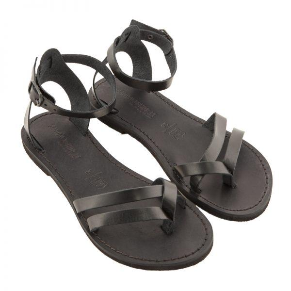 Sandalo chiuso dietro Formentera nero da donna