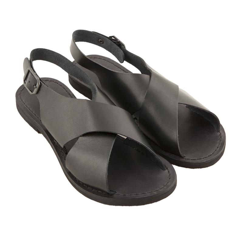 Sandalo chiuso dietro Inox nero da donna