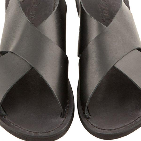 sandali-microporoso-chiuso-donna-Inox-nero-3