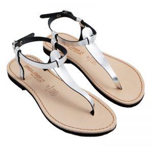 Sandalo chiuso dietro Oregon argento da donna