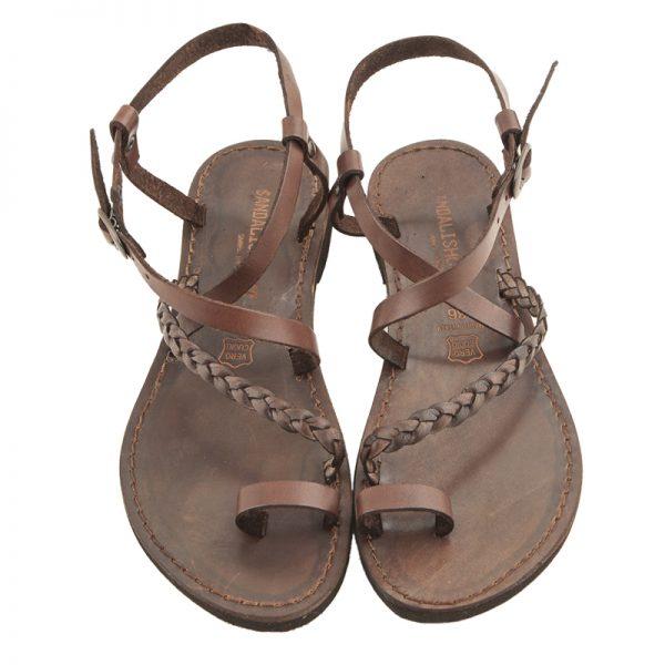 sandali-microporoso-chiuso-donna-Treccia-marrone-2
